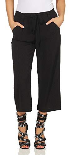 Only Onlwinner Palazzo Culotte Pant Wvn Pantalones, Black 74, 42 para Mujer