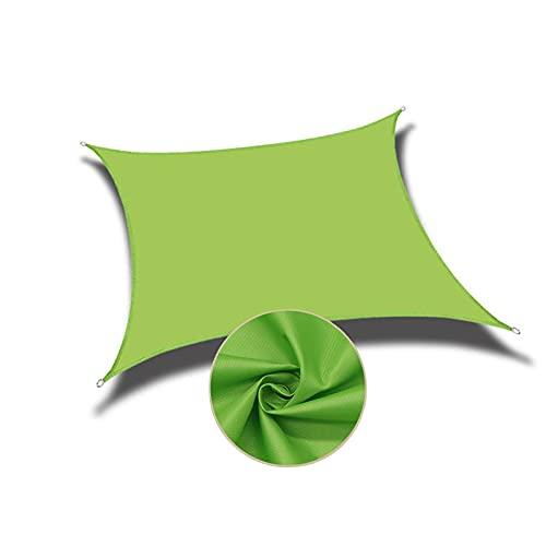 AMSXNOO Vela De Sombra, Impermeable 98% De Bloqueo UV a Prueba De Viento Toldo, Rectangular Toldos Exterior por Patio Interior Invernadero Kiosko Cámping (Color : Green, Size : 3X1M)