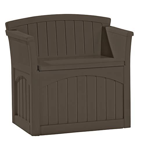 Suncast 31-Gallon Medium Deck Box Seat - Lightweight Resin Indoor/Outdoor Storage Container and Seat...