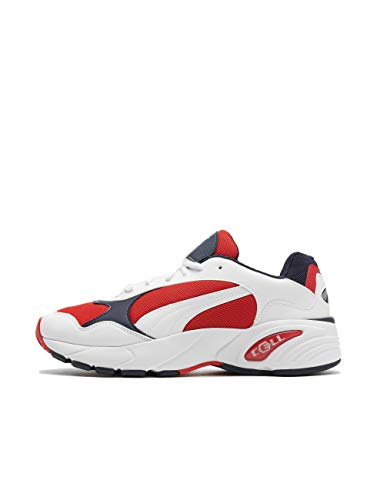 Puma Unisex-Erwachsene Cell Viper Sneaker, Weiß(Weiß (Puma White-High Risk Red)), 42