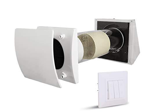Ventilación descentralizada para viviendas, diámetro de 150 mm, hasta un 90% de recuperación de calor.