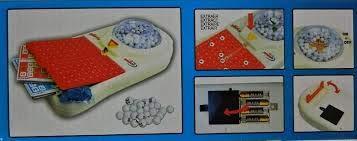 Loto Bingo - Rueda eléctrica de 48 cajas + 90 bolas de...