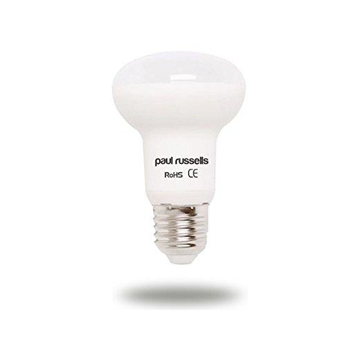Paul Russells Reflektor-LED-Leuchtmittel, 7 W, E27, ES Edison-Schraube, hell 7 W = 60 W, R63 Spot-Lampe, 270 Strahler, 6500 K, Tageslicht, 60 W Glühlampen-Ersatz