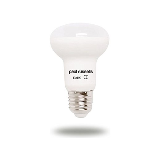 Paquete de 3 bombillas LED reflectoras de 7 W E27 ES Edison Tornillo Paul Russells brillante 7 W = 60 W R63 Spot Light 120 lámpara de haz 2700 K blanco cálido 60 W reemplazo incandescente