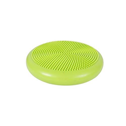 NO LOGO BenedictGladysd Yoga Ball, Yoga-Massage-Kissen Balanceplatte, Padded Thick Anti-Aufruhr-Gymnastikball (grün, sendet aufblasbaren Schlauch) Fitnessbälle (Color : Green)