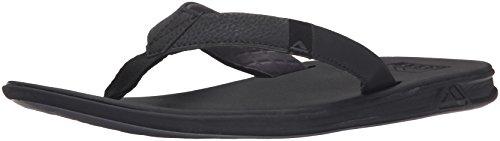 Reef Men's Sandals Slammed Rover   Athletic Flip Flops For Men With Soft Cushion Footbed   Waterproof, Black, 11