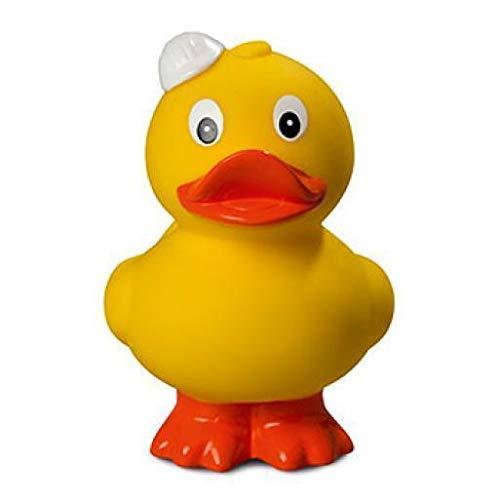 Vertrieb durch Setkon Quietsche-Ente Bauhelm stehend Badespaß Gummiente Quitschente Badeente Badespielzeug