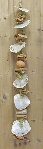 Muschelgirlande Hängedeko Muschelkette maritim Treibholz Schnecken Muschelplatten Natur