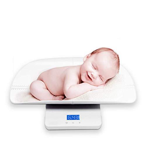Bilancia per Bambini Pesaneonati Precisione Digitale Multifunzione 3 Modalità di Pesatura Scale LCD Schermo 2 in 1 (massimo: 100kg) e altezza (massimo: 60 cm)