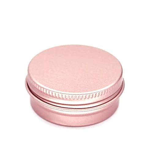 50 unids/lote 5g 10g 15g 20 g 30 g 40 g 50 g de frascos de aluminio vacío contenedores de estaño de aluminio de metal cosmético vacío (Specifications : Rose gold 15g)