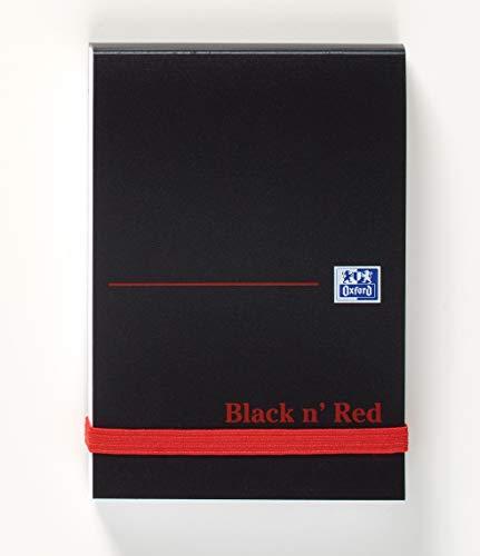 Black n Red Réf M67072 Cahier de notes Reliure rigide 90 g/m² Uni 192 pages 105 mm x 74 mm Lot de 10 (Import Royaume Uni)