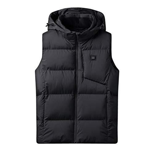 GZKXUE Verwarmd vest voor heren, slim warm vest, onder katoen thermostaat verwarmingsmantel lichte jas, lichte jas voor herfst en winter op reis, te voet