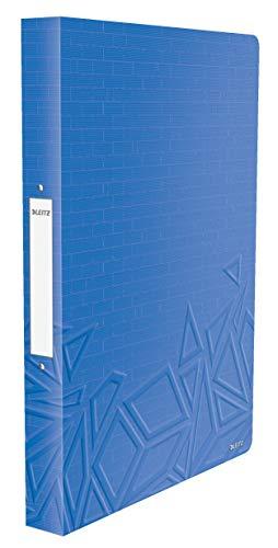 Leitz Urban Chic A4 Ringbuch, A4, 26 mm Rückenbreite, 2 D-Ring Mechanik, Blau, 42070032