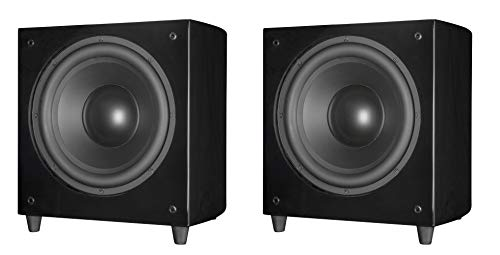 Find Bargain 2 x PhaseTech 12 Black Wireless Subwoofer 900W Passive Radiator Home Audio