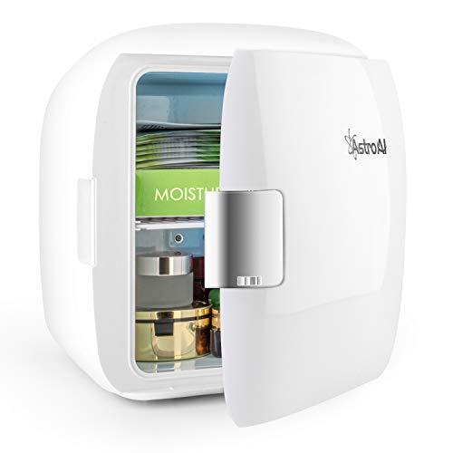 AstroAI 9L Mini Nevera Pequeña Portátil 12 V/220 V para Coche y Casa, Tanto en Frío Como en Calor 0-66°C Enfriamiento y calentamiento (blanco)