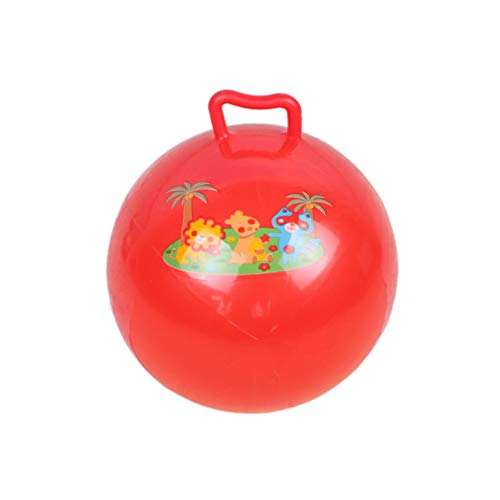 STOBOK Pelota de gimnasia hinchable de 25 cm, para gatear, saltar, con mango, para niños pequeños, para deportes al aire libre, color aleatorio
