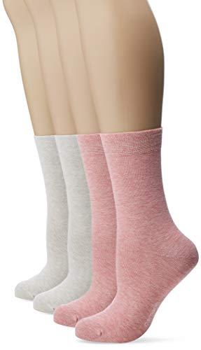 Camano Damen 1102000000 Socken, Rosa (Blush Melange 4250), (Herstellergröße: 35/38) (4er Pack)