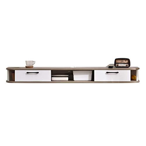 Equipo para el hogar Láminas montadas en la pared de gran capacidad Gabinete de TV Set Top Box Marco Fondo Pared Enrutador WiFi Reproductor de DVD Centro de entretenimiento versátil Consola multime