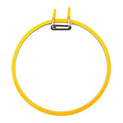 Plástico bordado aro redondo 22cm punto de cruz marco primavera tensión