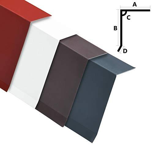 Tidyard Dachrandblech L-Form Randplatten 5 STK.Dachrandbleche aus Aluminium,L-Profile Randstangen 170 cm,90°-L-Profil für Dachkanten(20 cm/6 x 12,5 cm (L x B)),Korrosions- und rostbeständig