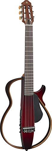 Yamaha SLG200N NW Nylon String Classical Silent Guitar with Hard Gig Bag, Crimson Red Burst