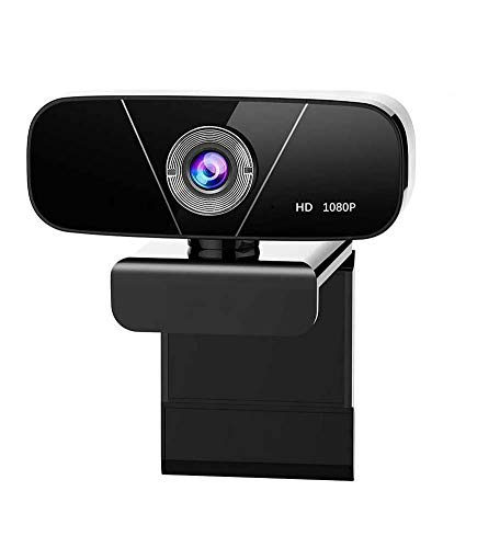 MYJZY Full HD 1080P Webcam, Rotatable USB Camera with Noise-Reducing Mic, Compatible with Windows for for Live Streaming, Video Calling and Recording Online Teaching Plug and Play