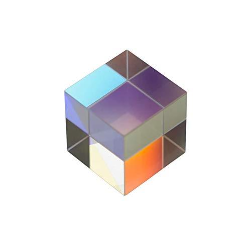 SosoJustgo2 Quadratischer Würfel Prism Crystal Clear Prisma Optisches Glas Prisma Refraktor Multi-Verwendung für Fotografie Wissenschaft Unterricht Physikalische Lektionen,25 * 25 * 25mm