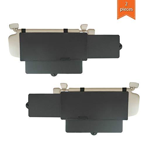 WANPOOL Lot de 2 pare-soleil de voiture antireflet pour siège avant conducteur et passager (Noir)