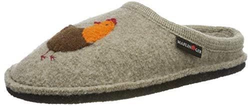 Haflinger Damen Flair Gallina Pantoffeln, Beige (Papiermeliert 87), 40 EU