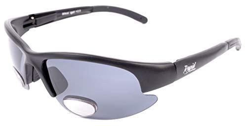 Rapid Eyewear BIFOKALE SPORTBRILLE POLARISIERTE 1,5 für Damen und Herren. Sport Sonnenbrille mit Leseteil für Angeln, Radfahren, Fahren usw.