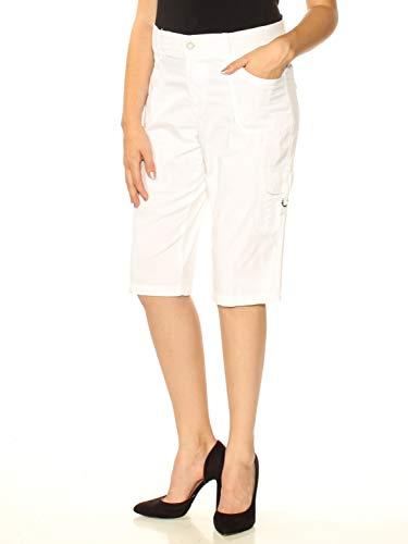 LEE Platinum Petite Cargo Shorts (White, 14P)