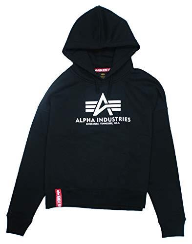 ALPHA INDUSTRIES Herren Basic OS Hoody Sweatshirt, Negro, S