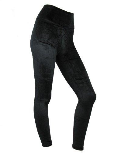 Womens Leggings dames hoge taille fluweel Leggins pluche avond fluweelzachte broek