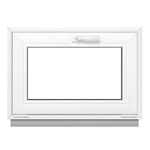 Premium Kunststofffenster Von Komforta - Kippfenster Weiß BxH 400 x 400 mm - Garagenfenster/Gartenhaus Fenster BxH 40 x 40 cm 2- fach Verglast - Funktion Kipp Fenster- Kellerfenster Alle Grössen