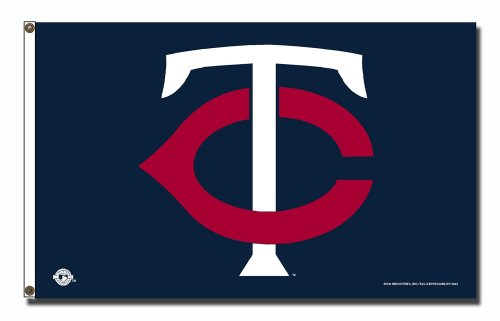 MLB Minnesota Twins 3-Foot by 5-Foot Banner Flag
