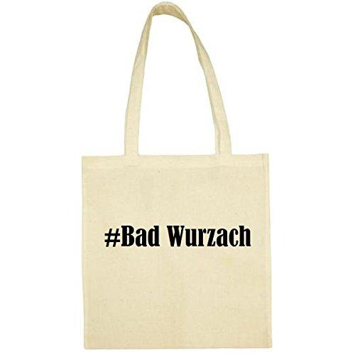 Tasche #Bad Wurzach Größe 38x42 Farbe Natur Druck Schwarz