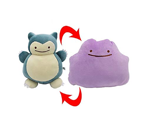 Snorlax Ditto Metamon Super Soft Cutest Plush Toys Bashful Stuffed Animal Cushion Plush Pillow for Boys Girls Kids Toddlers Great Gift Idea Xmas Christmas Wedding Anniversary Presents Party Gifts