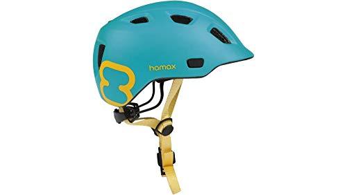 RennMaxe : Hamax Thundercap - türkis/gelb - 47-52 cm - inkl Sicherheitsband - Fahrradhelm Skaterhelm MTB BMX Kinder Jugendliche