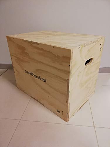 Box pliometrico allenamento palestra workout crossfit esercizio per saltare jump scatola legno multistrato 75 x 60 x 50 cm