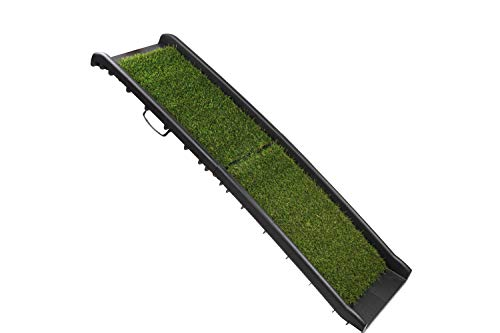 Dog Ramp for Small, Medium and Large Dogs - Easy Access to SUV, Truck, Couch and High Beds - Non Slip Grass Turf, Rubber Grip, Lightweight, Portable, Foldable - Perfect for Indoor/Outdoor Activities