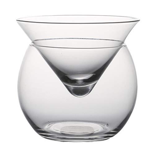 Moregirl Molecular Mixology Interlayer Triángulo Cóctel Cristal Helado Copa de Vino Cono Martini Globular Set Bartender Special Drin