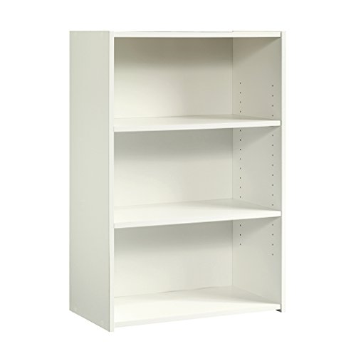 Sauder Beginnings 3-Shelf Bookcase, Soft White finish