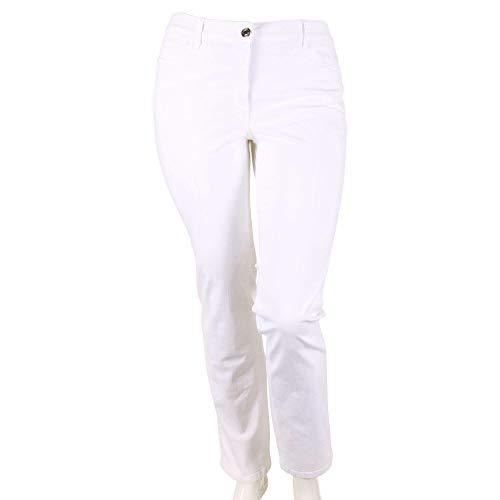 Zerres Damen Jeans Cora Größe 42 EU Weiß (weiß)