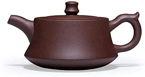 ZHSDTHJY Teekannen, 180 ml, Kung-Fu-Tee, chinesisches Teeset, schwarzer Tee, Oolong-Tee, Teekanne, Yixing, lila Ton, Teekanne handgefertigt