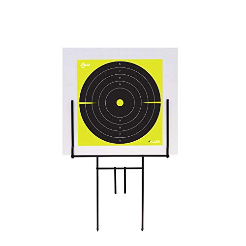 Allen Company EZ-Aim Portable Range Steel Target Stand & Coroplast Board, 16 W x 26.5 H inches, Black