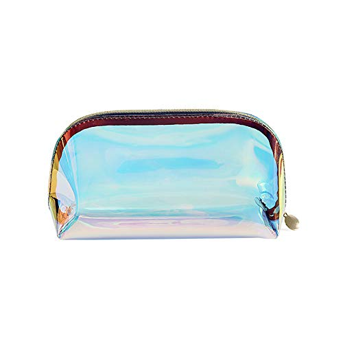 Waterproof Colorful Transparent Makeup Bags Mini Travel Makeup Bag Women Brushes, Cream, Phone Pencils Organizer Suitable for Out-Going Business Travel