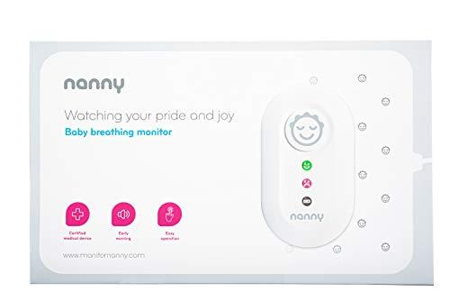 JABLOTRON™ Nanny Monitor BM-02 Babyphone - Atmungsüberwachungsgerät/Atmungs Monitor für Babys mit 1x Sensormatten – Überwachen Sie die Atmung Ihres Kindes – Hergestellt in der EU