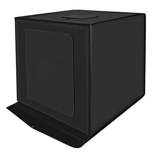 XXLYY 60cm LED Studio pequeña Caja Suave, Box Fotografía, Foto Caja de luz, Equipo Fotográfico, Fotografía Kit Tamaño 60cm x 60cm x 60cm,60cm
