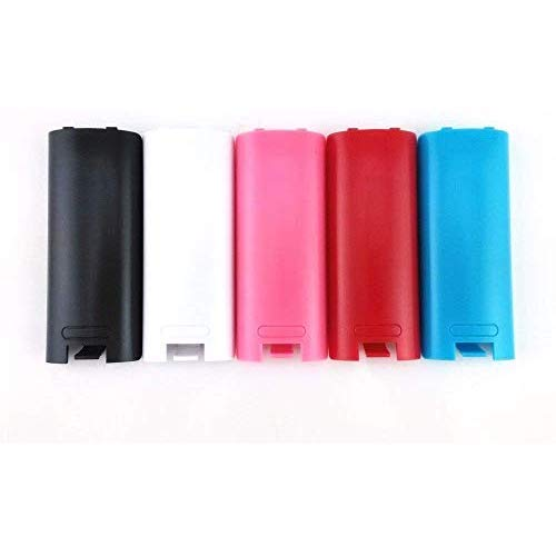 Replacement Battery Cover For Nintendo Wii Remote X 5 (Black, Blue, Pink, Red and White) by Mars Devices