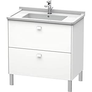 Duravit Brioso Mueble de pie Compacto 82,0 x 46,9 cm, 2 extraíbles, incl. hueco para sifón y delantal, para lavabo…